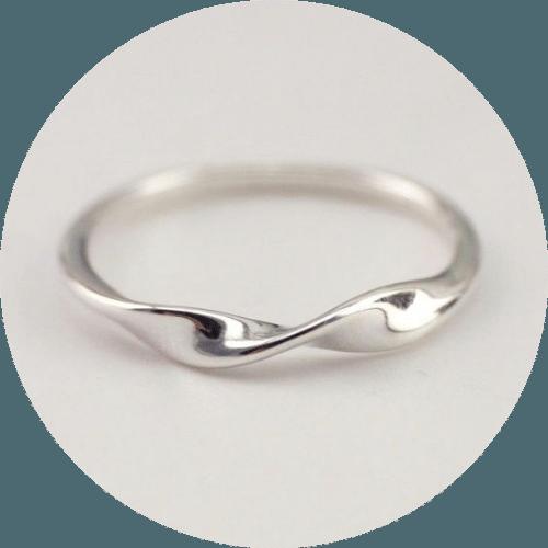 Silverworks - Shaped Wedding Band
